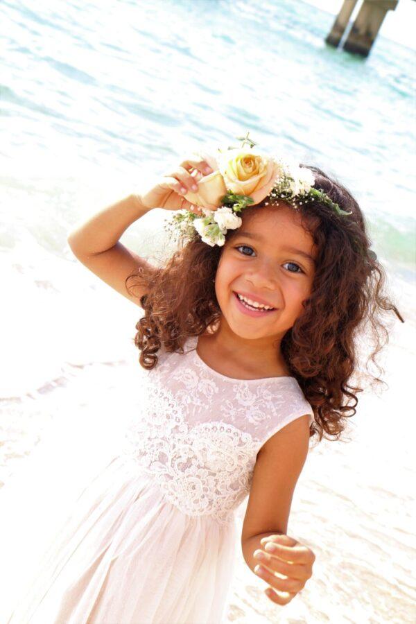 Unique flower girl dress collection.